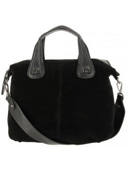 d78d32ce496c Женская сумка из кожи и замши 0868-1 BLACK