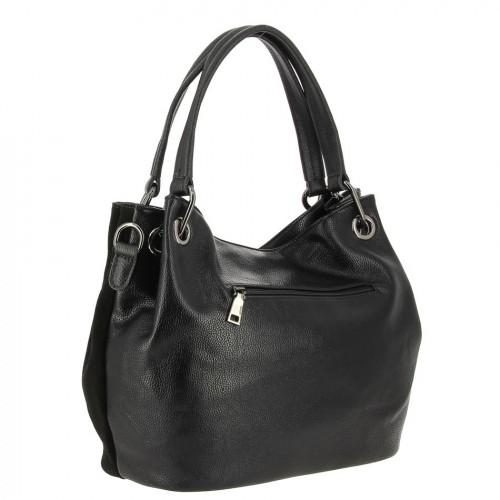 7225be37fe5f ... Женская замшевая сумка с кожей 8812 BLACK ...