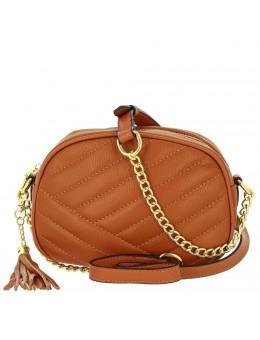 Женская кожаная сумка 9012 L BROWN