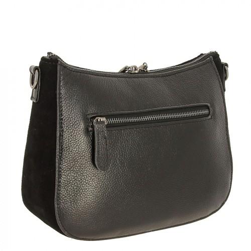 00319abb4b3f ... Женская замшевая сумка с кожей 9902-1 BLACK ...